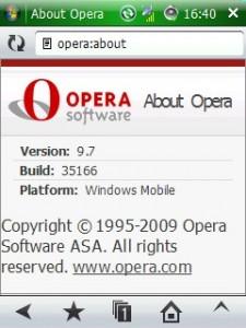 《Opera Mobile 9.7 Beta for windows mobile下载》