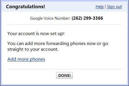 Google voice-verify sucess